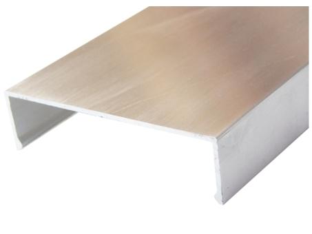 Klemmdeckel alu blank für 80 mm Unterkonstruktion