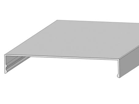 Klemmdeckel alu silber für 120 mm Unterkonstruktion