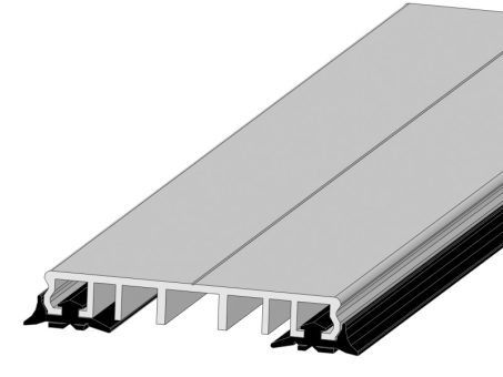 Klemmprofil, Verlegeprofil mit Dichtung für 80 mm Unterkonstruktion 6 Meter
