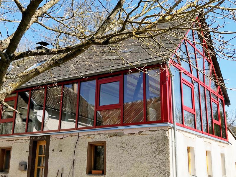 Fachwerkhaus komplett aus Glas