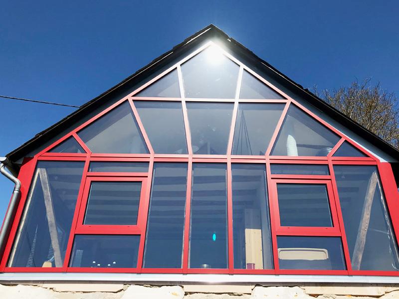 Fachwerkhaus mit Glas