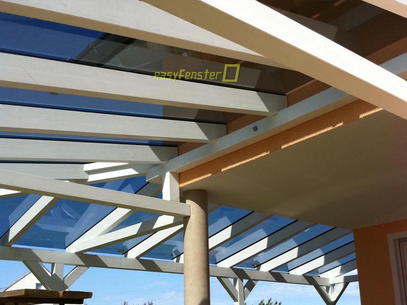 Glasdach über Eck Montagesystem