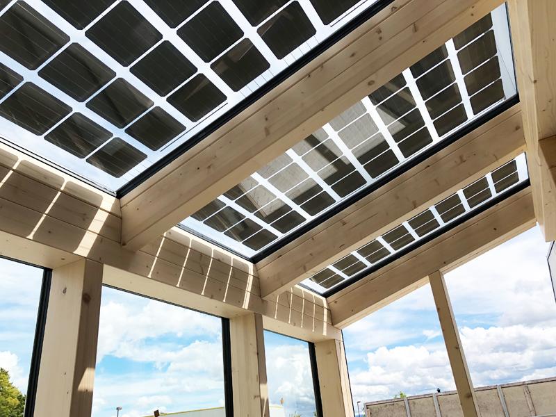 Wintergarten mit Solarverglasung - Glasmontageprofile